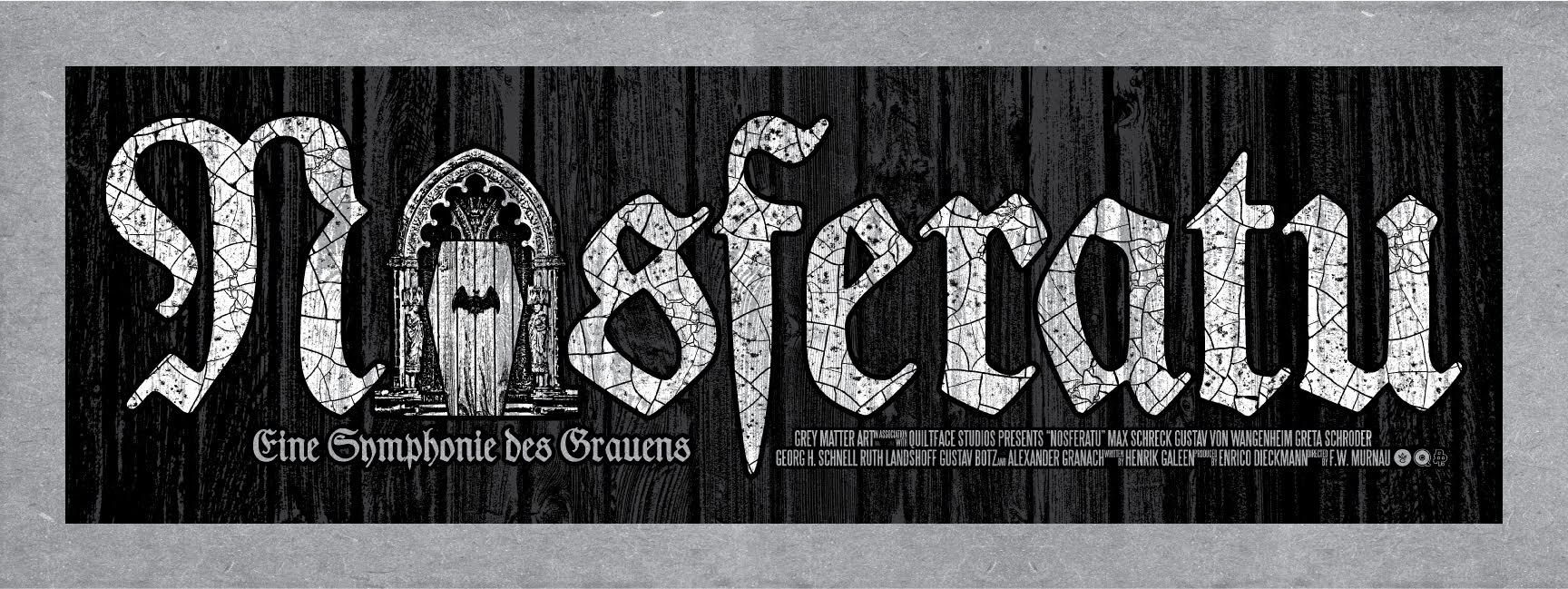 """Nosferatu"" by Chris Garofalo.  24"" x 9"" 3-color Screenprint w/ GID with on Mr. French Packing Chip KraftTone.  Ed of 40 S/N.  $25 (Castle)"