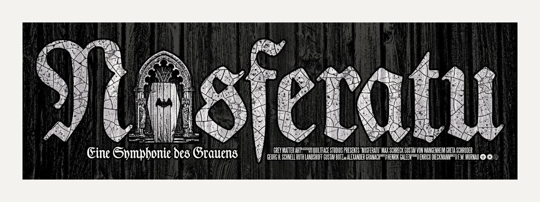 """Nosferatu"" by Chris Garofalo.  24"" x 9"" 3-color Screenprint w/ GID with on Mr. French Madero Beach SpeckleTone.  Ed of 40 S/N.  $25 (Crypt)"