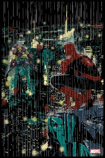 """Spider-Man Vs. Green Goblin"" by Raid71.  24"" x 36"" 10-color Screenprint.  Ed of 150.  $45"