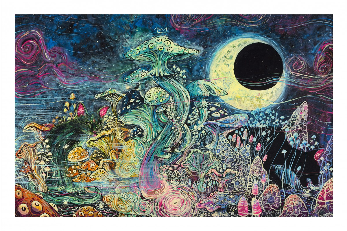 """Big King Cap and His Kitty Cats"" by James R Eads.  24"" x 36"" Giclee.  Ed of 25 S/N.  $100"