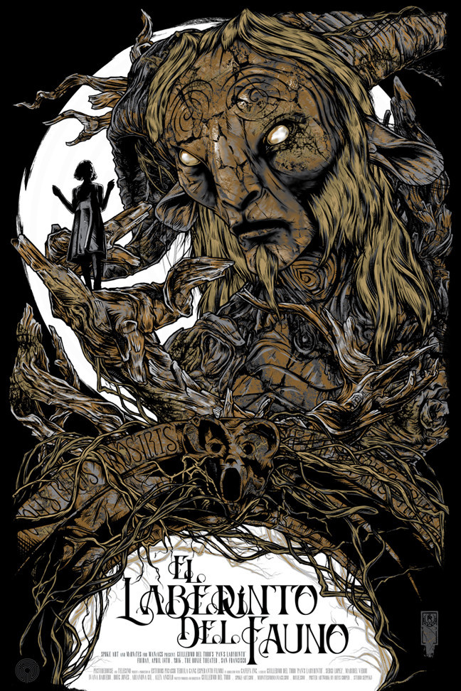 """El Laberinto del Fauno"" by Rhys Cooper.  24"" x 36"" Screenprint w/GID.  Ed of 100 N.  $50 (Spanish)"