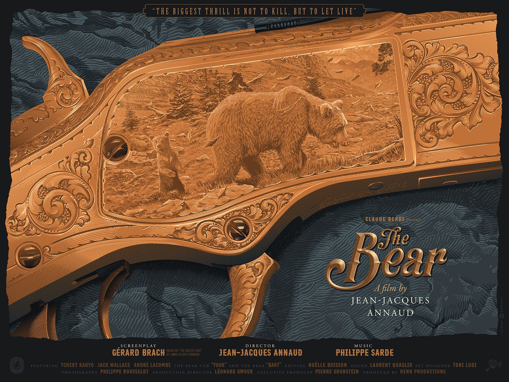 """The Bear"" by Laurent Durieux.  18"" x 24"" 7-color Screenprint.  Ed of 155 S/N.  $55 each : $85 set with Wiggins (English)"