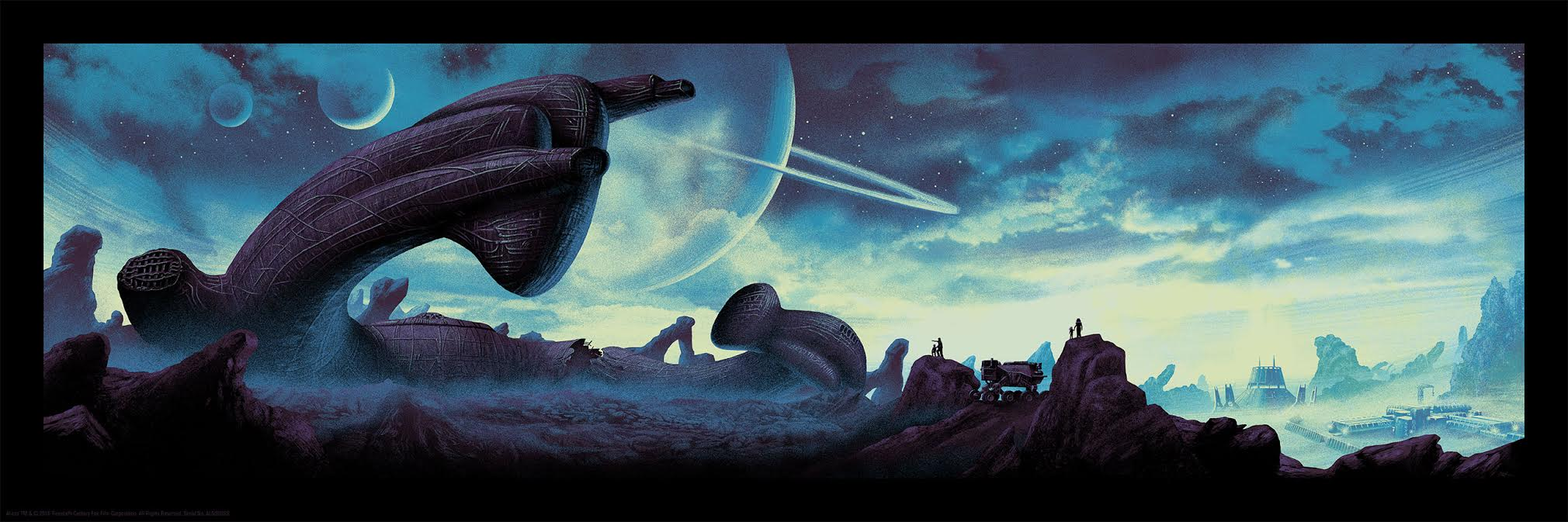 """""""should we take a look inside?"""" by Mark Englert.  12"""" x 36"""" 7-color Screenprint w/ GID.  Timed edition .  $50"""