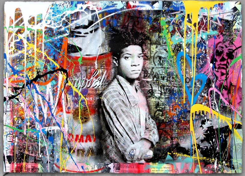 """Samo Is Alive"" by Mr. Brainwash.  46.5"" x 33.5"" 11-color Screenprint, hand-finished.  Ed of 12 S/N.  $4,500"