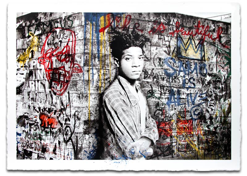 """Samo Is Alive"" by Mr. Brainwash.  46.5"" x 33.5"" 11-color Screenprint.  Ed of 125 S/N.  $750"
