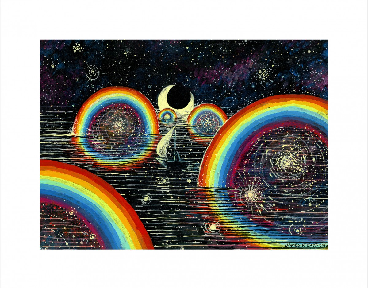 """Rainbow Party"" by James R Eads.  11"" x 14"" Giclee.  Ed of 75 S/N.  $35"