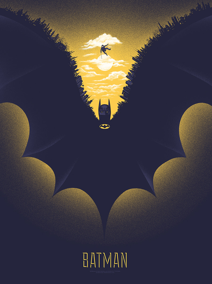 "Batman by Gary Pullin. 18""x24"" screen print. Hand numbered. Edition of 225. Printed by D&L Screenprinting. $40"