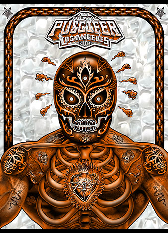 """Puscifer - Los Angeles, CA 2016"" by Emek.  18"" x 24"" Screenprint on lenticular paper.  Ed of 50 S/N.  $100 (Orange)"