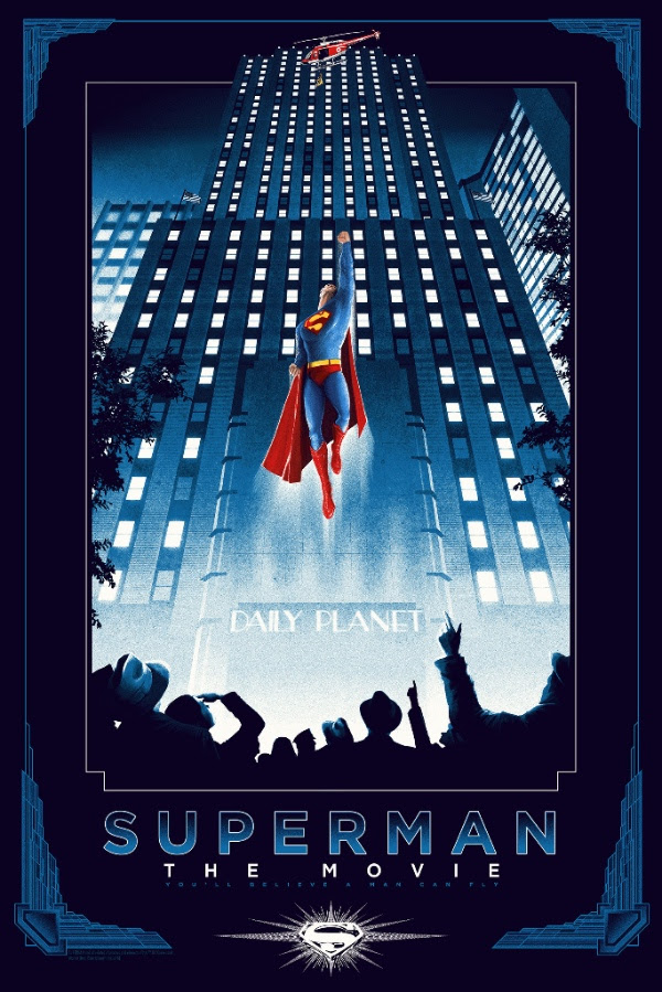 """Superman"" by Matt Ferguson.  24"" x 36"" Screenprint .  Standard (Ed of 280, $65) : Foil (Ed of 10, $150)"