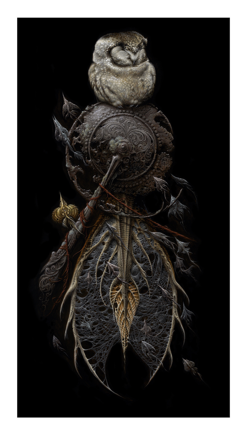 """The Snare"" by Aaron Horkey.  10.5"" x 19"" Giclee.  Timed edition.  $100"
