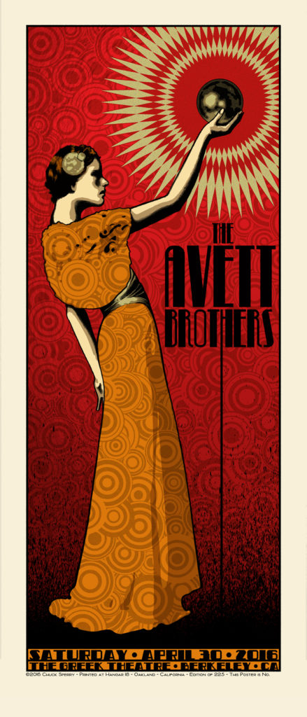 sperry The Avett Brothers - Berkeley, CA 2016