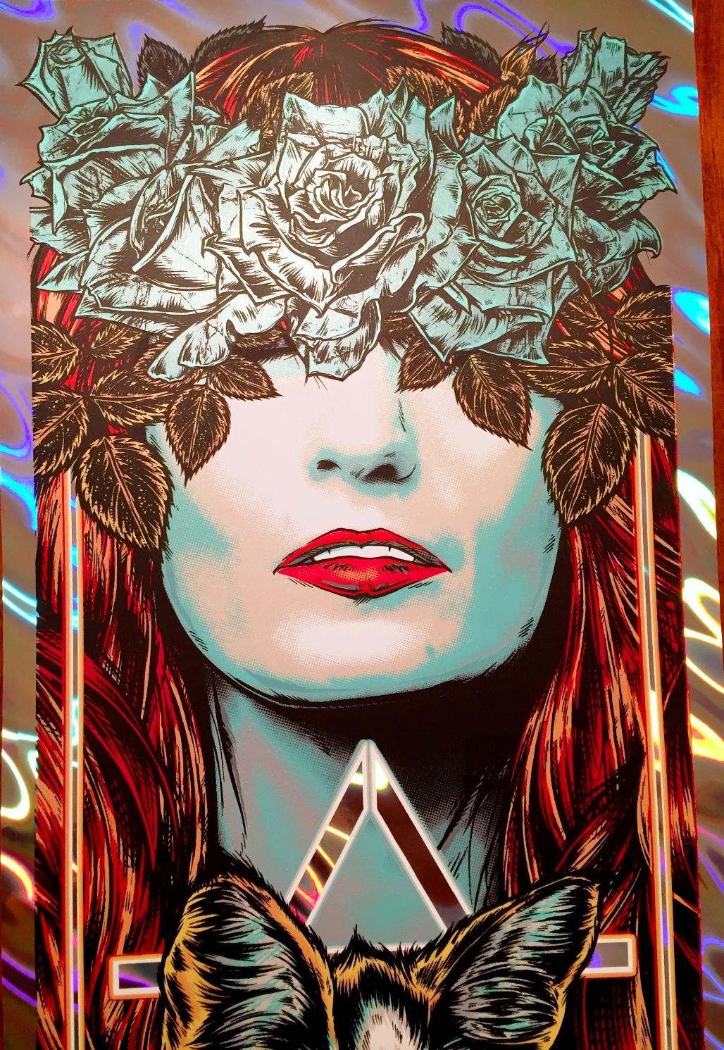Florence The Machine Austin Tx 2016 E2 80 B3 By Rhys Cooper 12 E2 80 B 6 Color Screenprint Ed Of 65 S N 65 Holographic Foil Variant