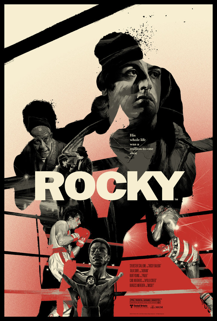 """Rocky"" by Gabz.  24"" x 36"" Screenprint.  Ed of 225.  $45"