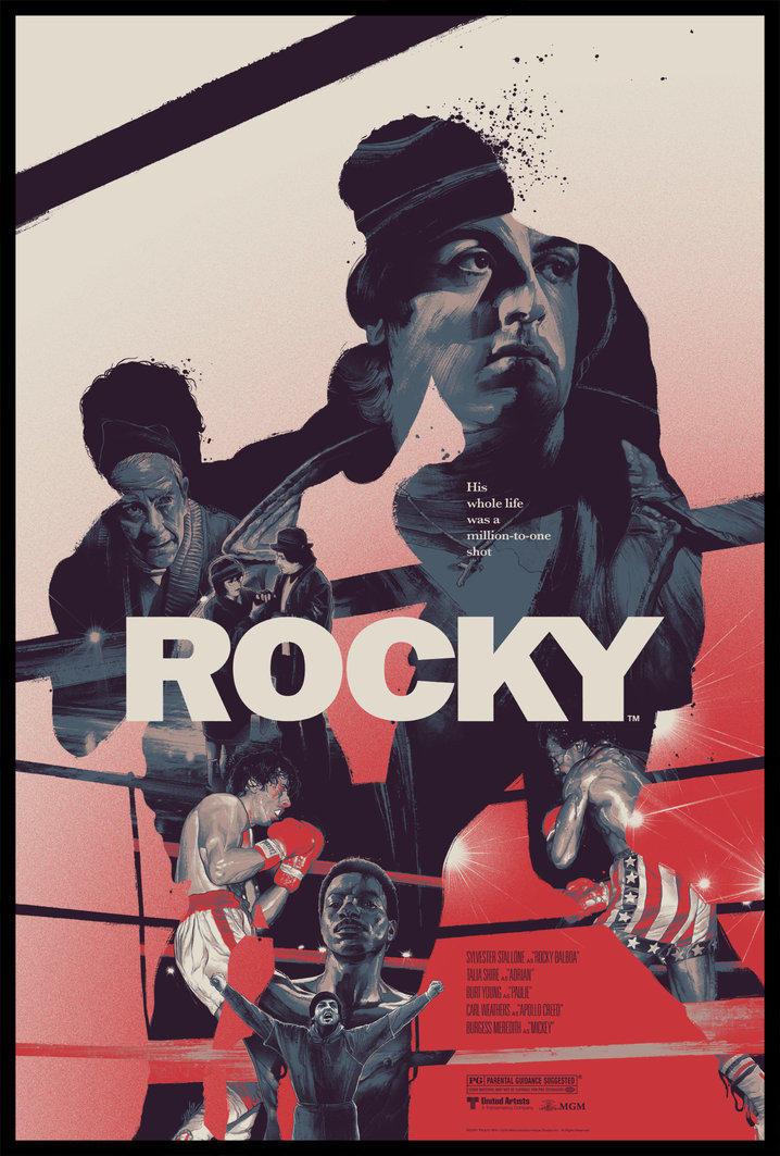 """Rocky"" by Gabz.  24"" x 36"" Screenprint.  Ed of 175.  $60 (variant)"