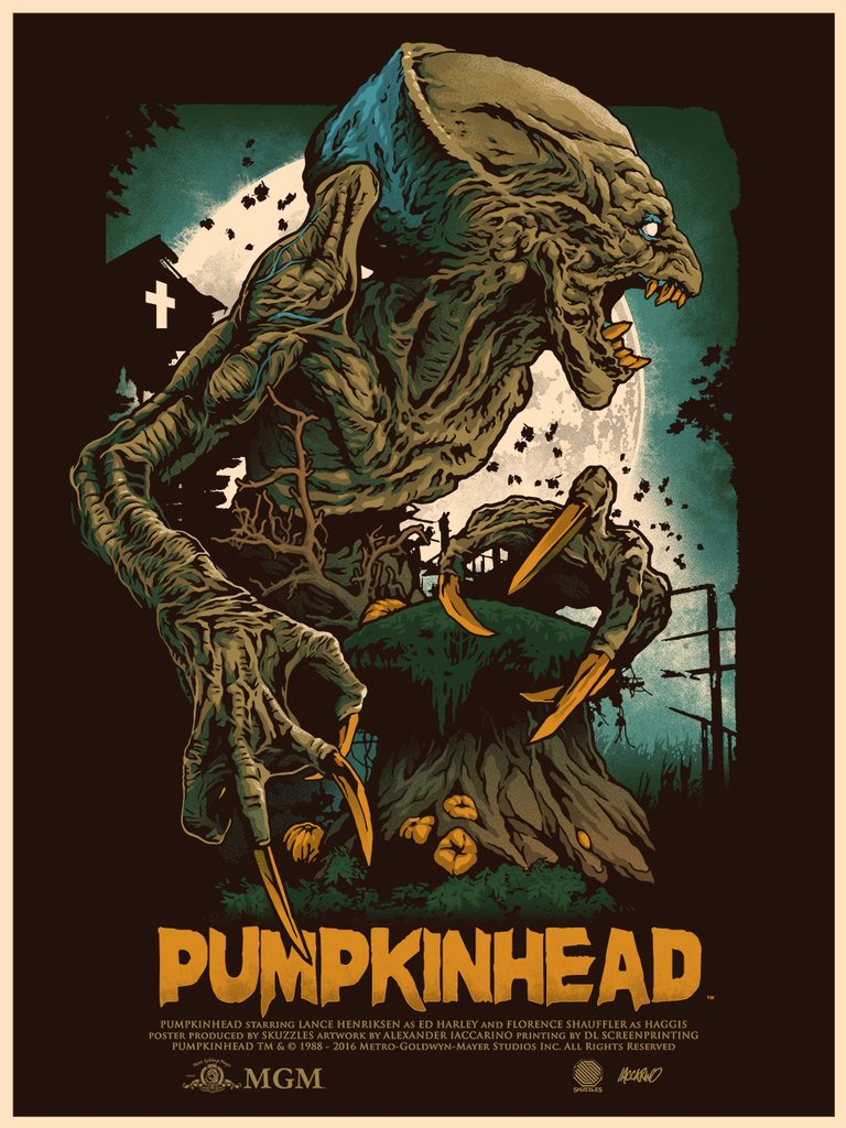 """Pumpkinhead"" by Alexander Iaccarino.  18"" x 24"" Screenprint.  Ed of 115.  $40"