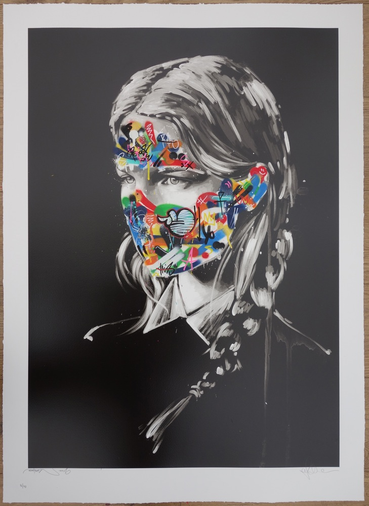 """La Cage et les deux âmes"" by Sandra Chevrier & Martin Whatson.  100 x 71cm 7-color Screenprint, hand-finished.  Ed of 40 S/N.  £600 ($806)"