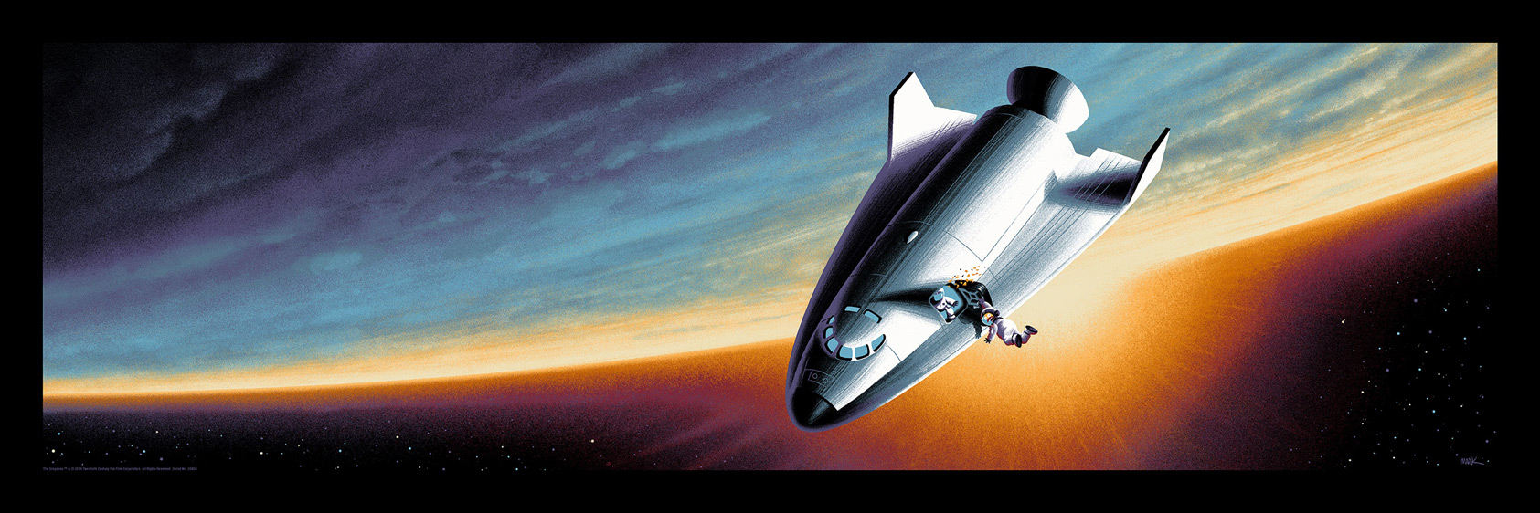 """Deep Space Homer"" by Mark Englert.  12"" x 36"" 8-color Screenprint.  Timed edition.  $50"