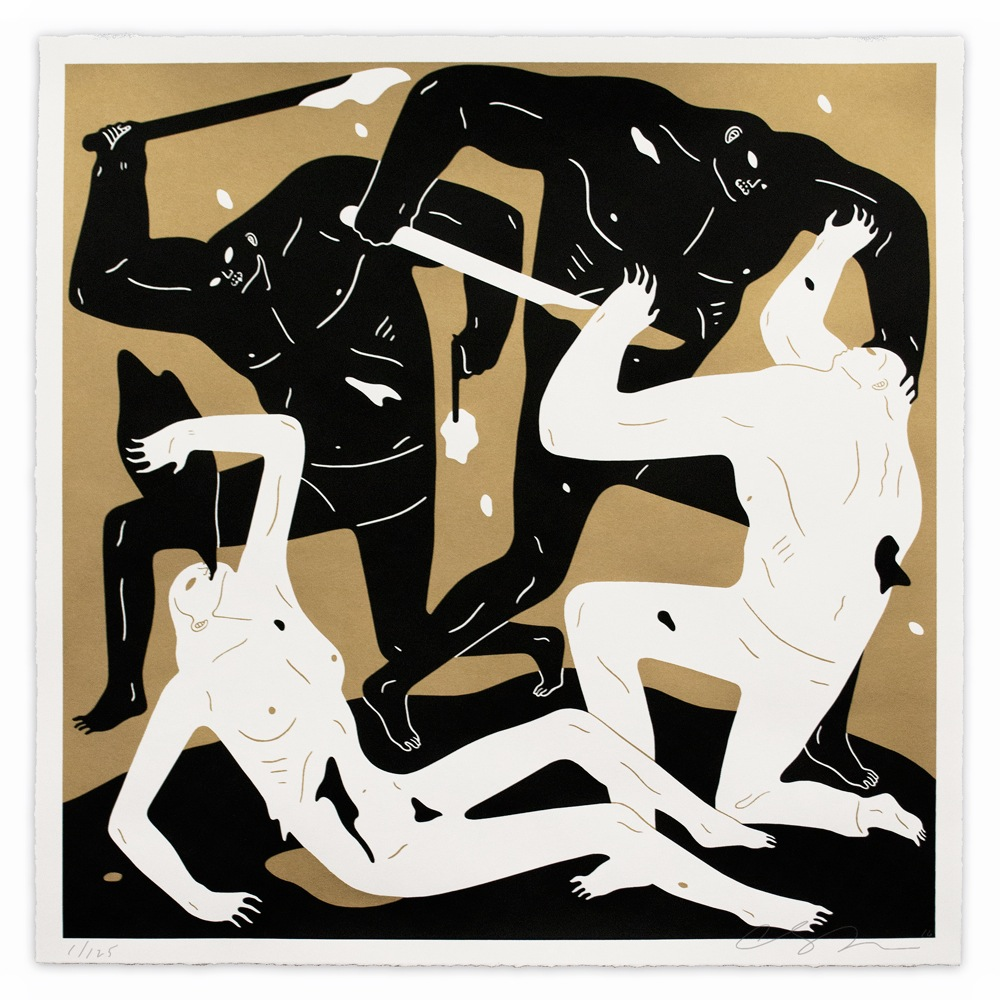 """Into the Sun"" by Cleon Peterson.  28"" x 28"" Screenprint.  Ed of 125 S/N.  $125 (Dark)"