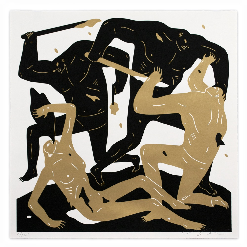 """Into the Sun"" by Cleon Peterson.  28"" x 28"" Screenprint.  Ed of 125 S/N.  $125 (Light)"