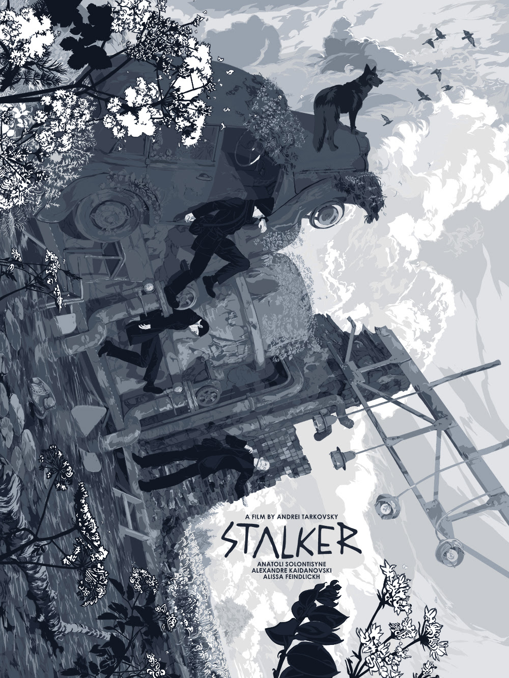 "Stalker by Zotho Lhun.  18"" x 24"" 11-color Screenprint.  Ed of 175 N.  £40 ($57)"