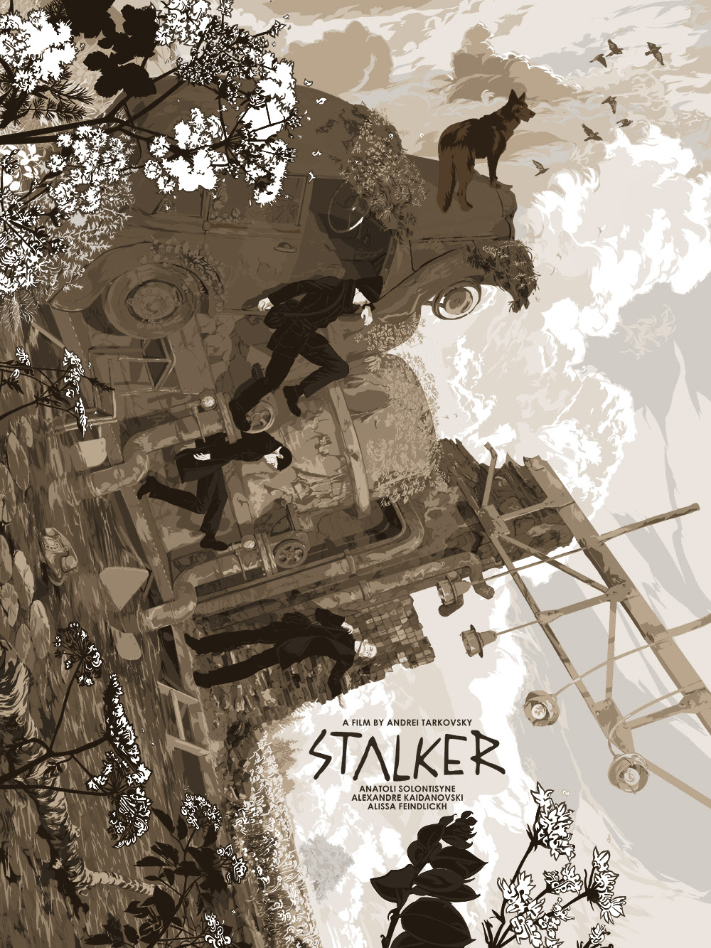 "Stalker by Zotho Lhun.  18"" x 24"" 11-color Screenprint.  Ed of 75 N.  £65 ($92) (variant)"