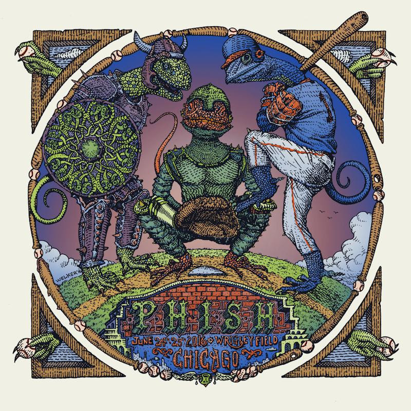 """Phish - Chicago,IL 2016"" by David Welker.  18"" x 18"" 4-layer Screenprint.  Ed of 1000 S/N.  $50"