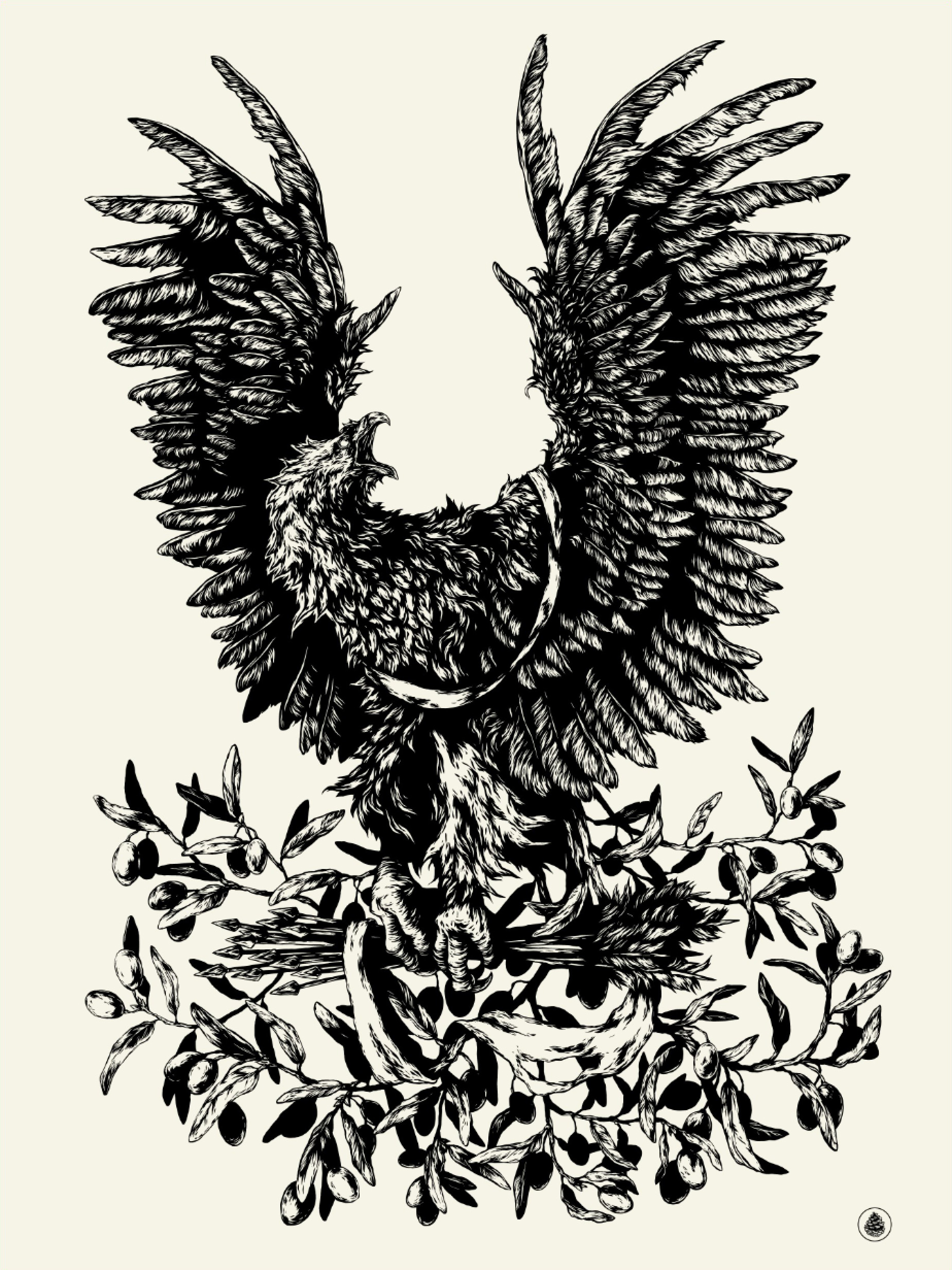 """Coats of Arms"" by Ivan Belikov.  18"" x 24"" Screenprint.  Ed of 44.  $25"