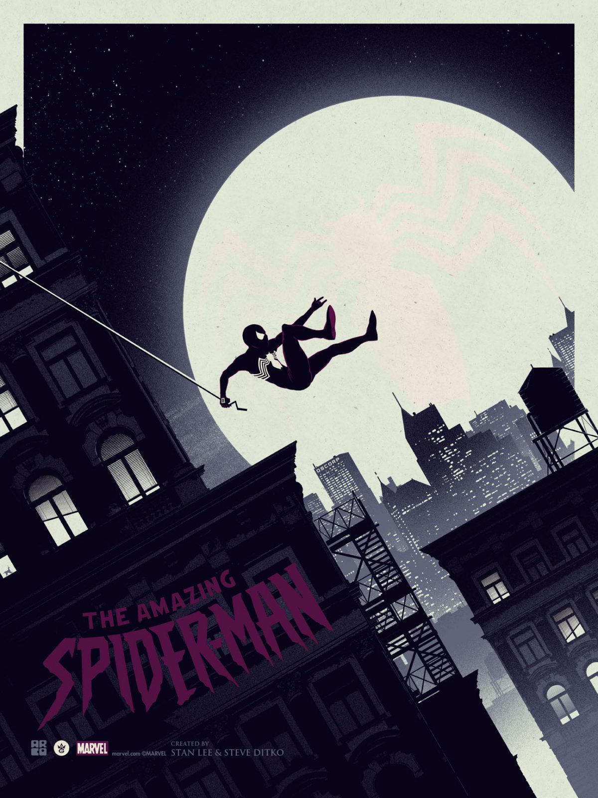 """The Amazing Spider-Man"" by Matt Ferguson.  18"" x 24"" Screenprint.  Ed of 125.  $45 (Variant)"