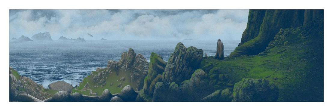 """Hope is not lost today. It is found."" by Mark Englert.  12"" x 36"" 7-color Screenprint.  Ed of 250 N.  $65 (variant)"