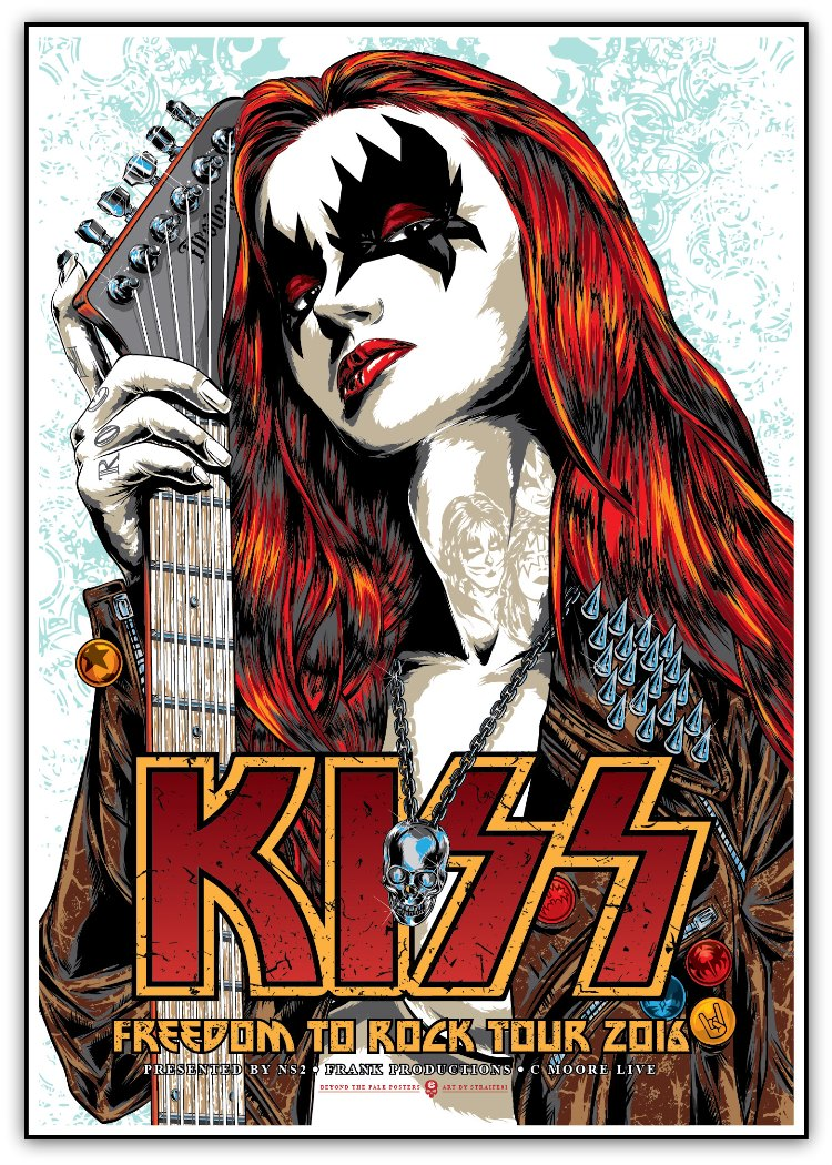"""KISS - Freedom to Rock Tour 2016"" by STRAIFE01.  20"" x 28"" Giclee.  Ed of 175 S/N.  $26"