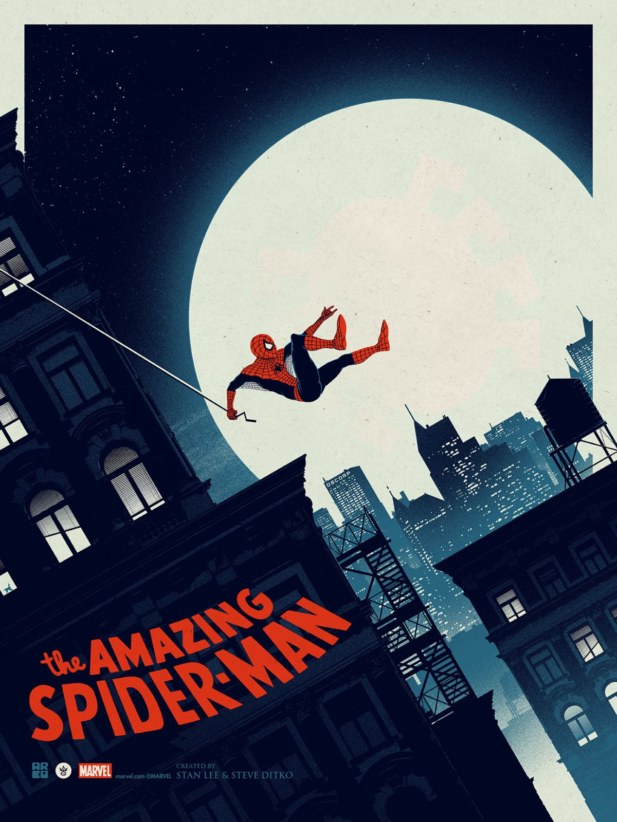 """The Amazing Spider-Man"" by Matt Ferguson.  18"" x 24"" Screenprint.  Ed of 250.  $40"