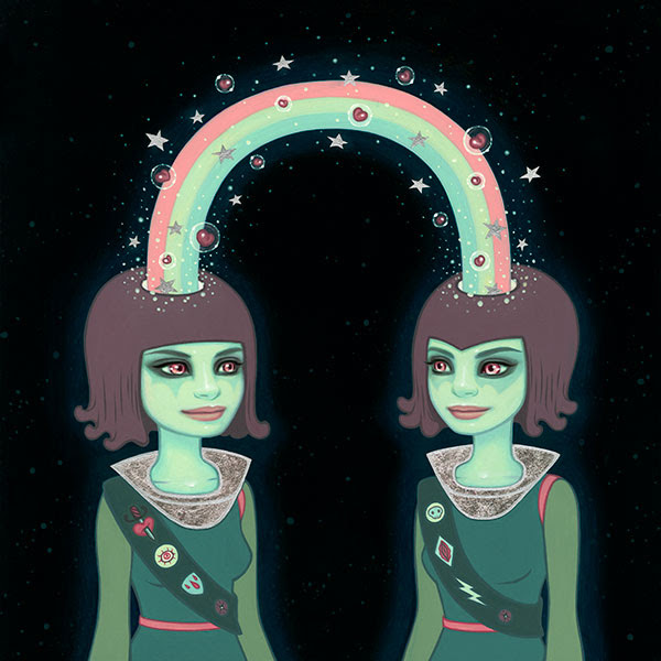 """""""The Indestructible Energy Of Synchronicity In The Space Time Continuum"""" by Tara McPherson.  17"""" x 17"""" Giclee.  Ed of 100 S/N.  $80"""