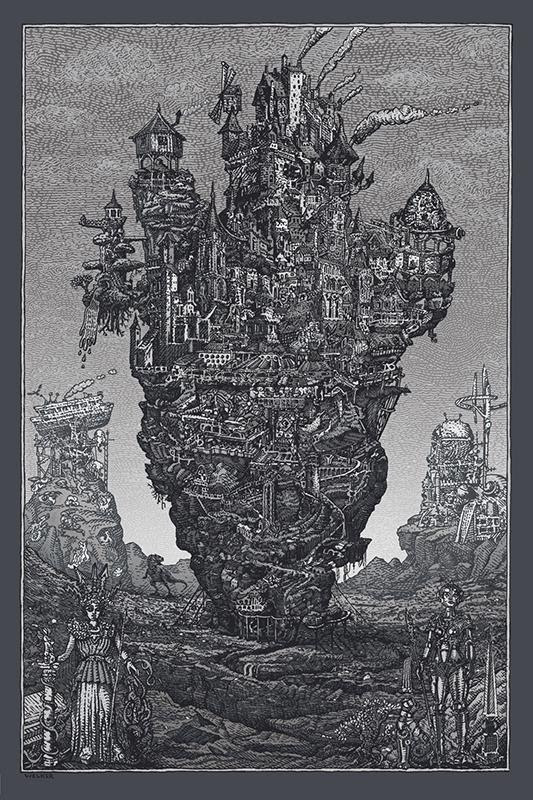 """Civilization"" by David Welker.  16"" x 24"" Screenprint.  Ed of 200.  $70"