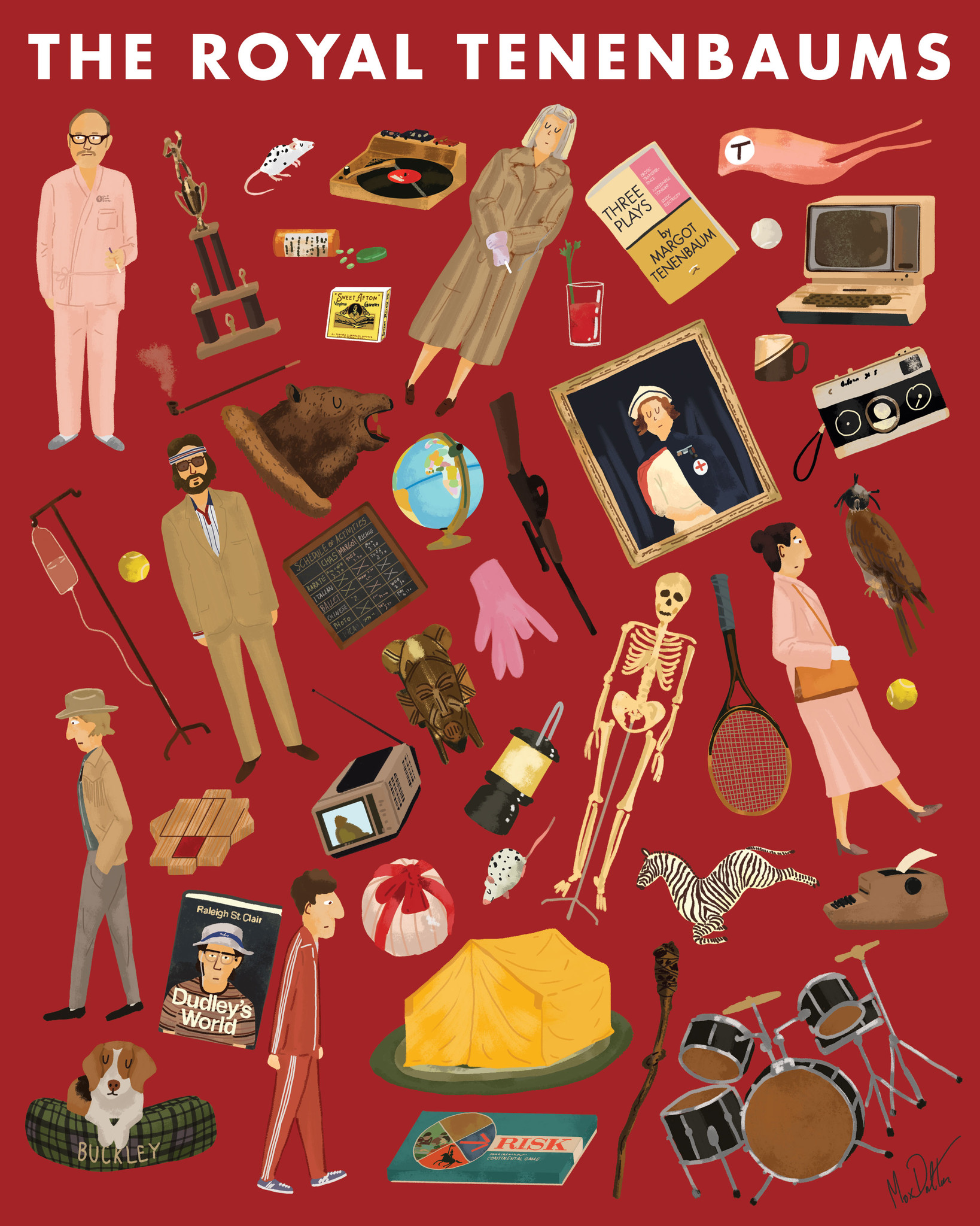 """The Royal Tenenbaums"" by Max Dalton.  8"" x 10"" Giclee.  Ed of 300 N.  $20"