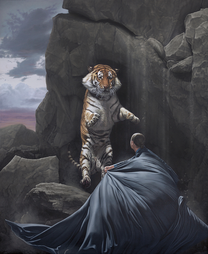"""Clash"" by Joel Rea.  Giclee.  Regular 66 x 55cm (Ed of 100, $280) : Large 106 x 90cm (Ed of 10, $1300)"