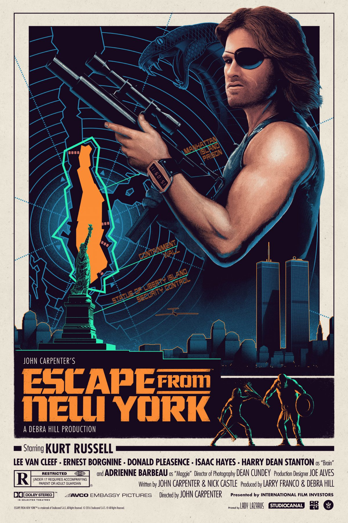"""Escape From New York"" by Matt Ferguson.  24"" x 36"" Screenprint.  Ed of 250.  $50"