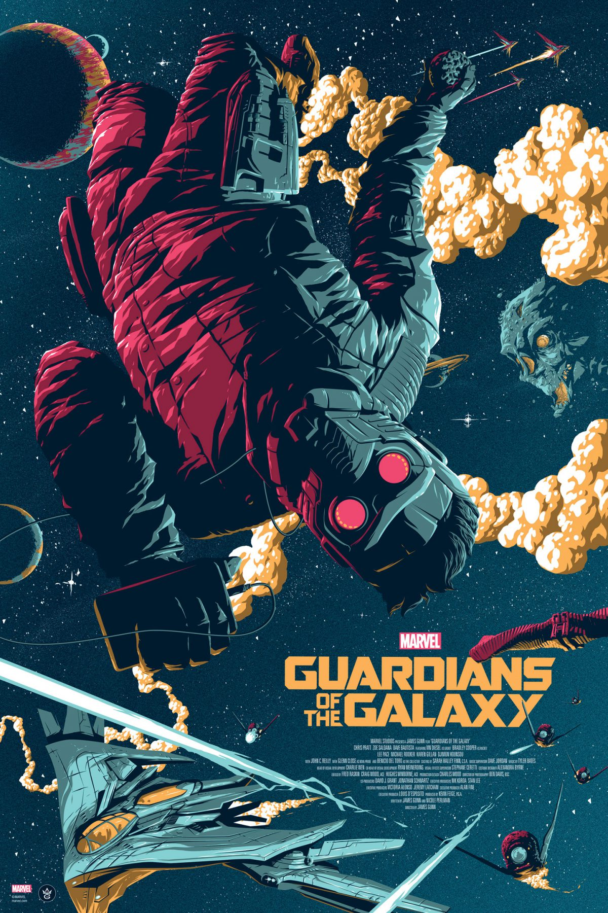 """Guardians of the Galaxy"" by Florey.  24"" x 36"" Screenprint.  Ed of 225.  $45"
