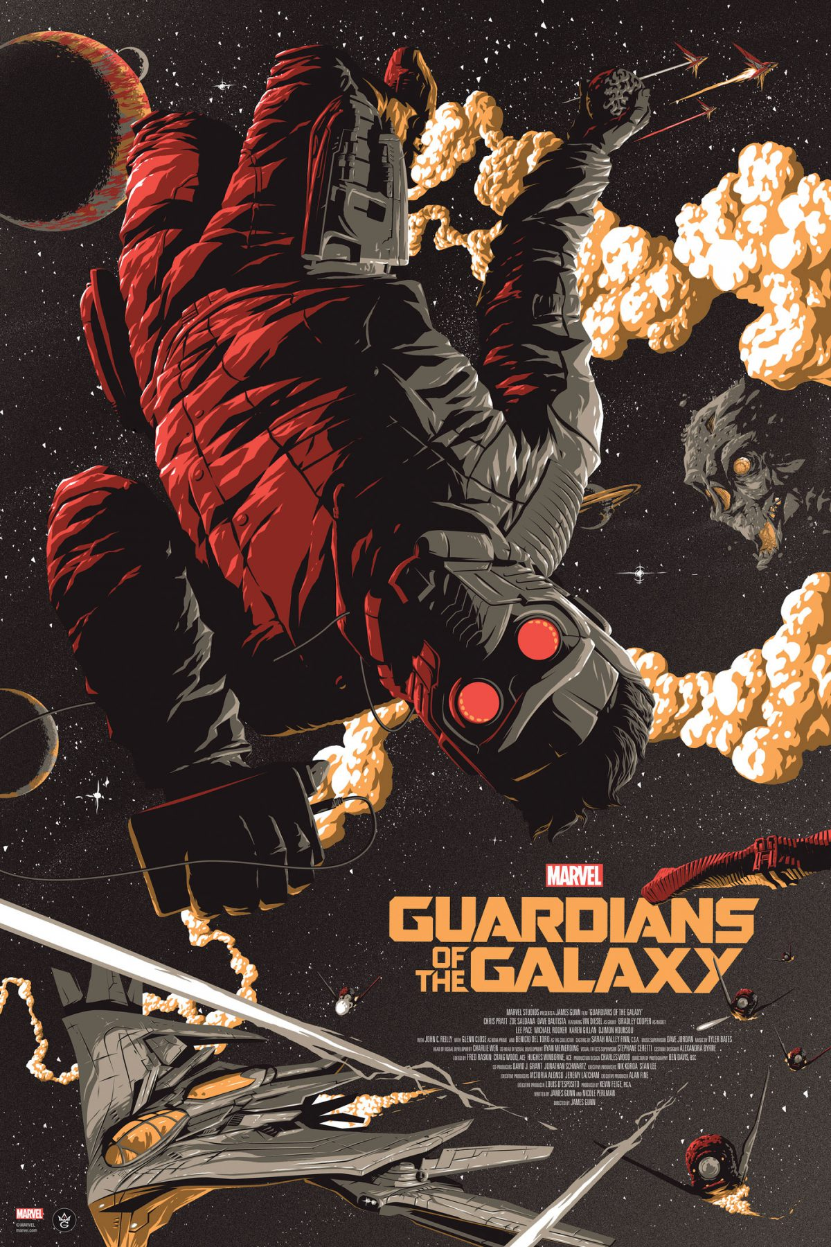 """Guardians of the Galaxy"" by Florey.  24"" x 36"" Screenprint.  Ed of 150.  $55 (variant)"
