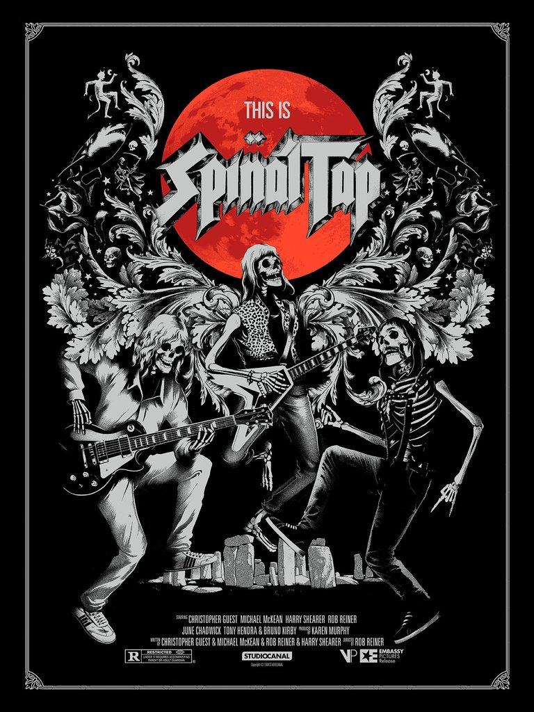 """This Is Spinal Tap"" by Matt Taylor.  18"" x 24"" 3-color Screenprint.  Ed of 120.  £40 ($52)"