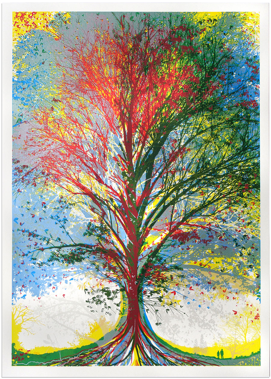 """Tree of Life"" by Chris Keegan.  56 x 40cm Screenprint.  Ed of 50.  £100 ($130)"