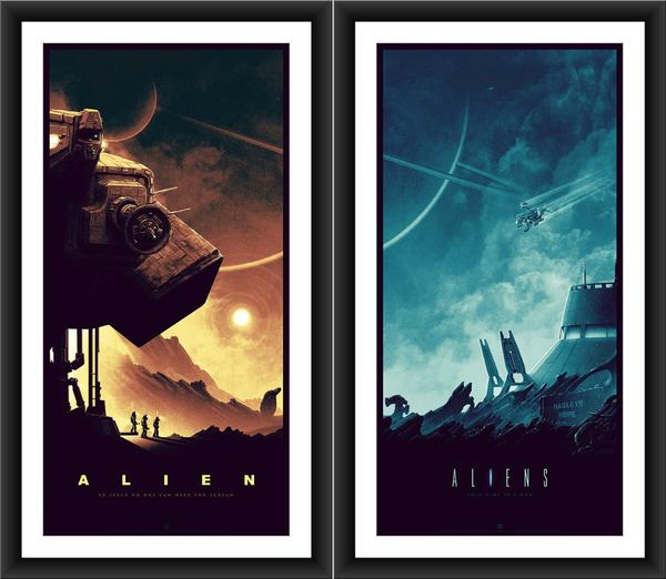 """LV-426"" & ""Acheron"" by Matt Ferguson.  (2) 18"" x 36"" Screenprints.  Ed of 175 N.  $85 set"