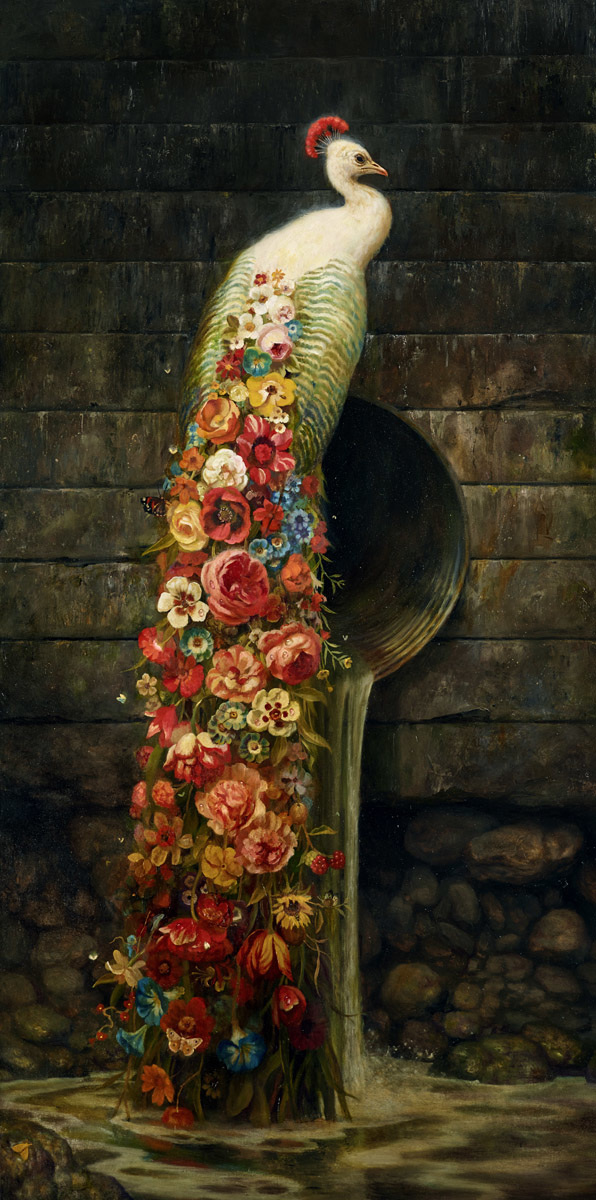 """Bloom"" by Martin Wittfooth.  26"" x 14"" Giclee.  Ed of 50 S/N.  $150"