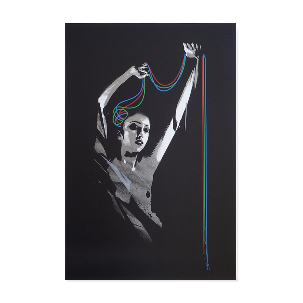 """Relex RGB"" by John Doe.  A2 6-color Screenprint.  Ed of 25 S/N.  £75 ($99)"