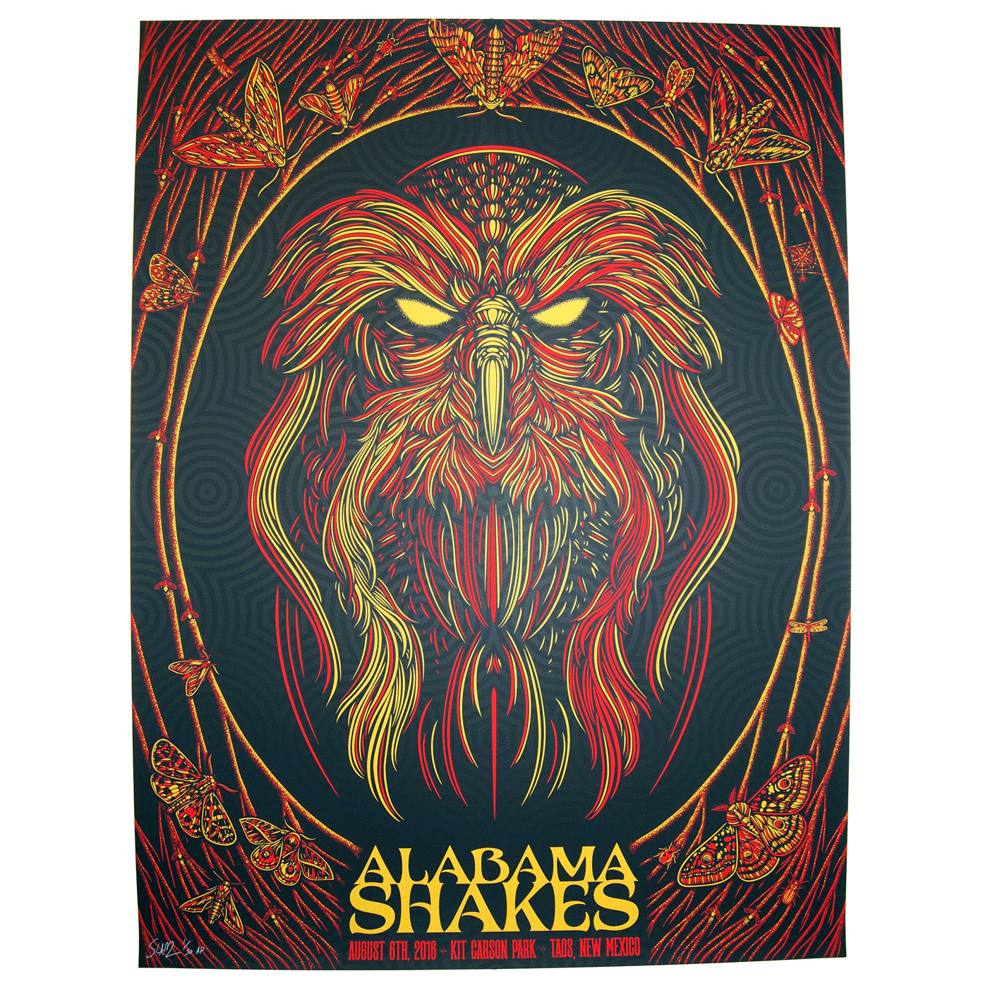 """Alabama Shakes - Taos, NM 2016"" by Todd Slater.  18"" x 24"" 3-color Screenprint.  Artist edition of 50 S/N.  $50"