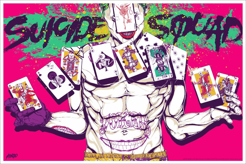 """Suicide Squad"" by Boneface.  36"" x 24"" Screenprint.  Ed of 275 N.  $45"
