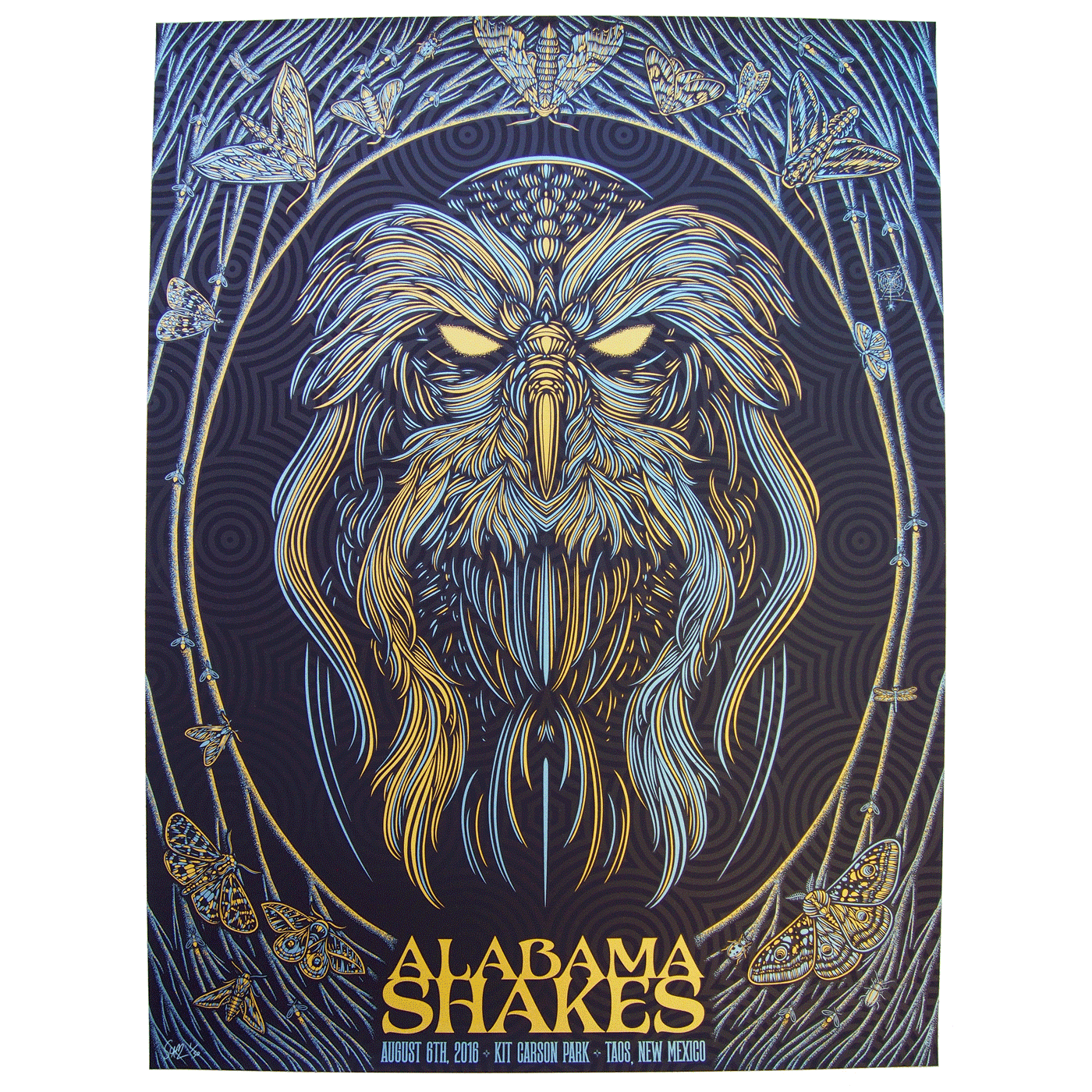 """Alabama Shakes - Taos, NM 2016"" by Todd Slater.  18"" x 24"" 3-color Screenprint.  Artist edition of 50 S/N.  $75"