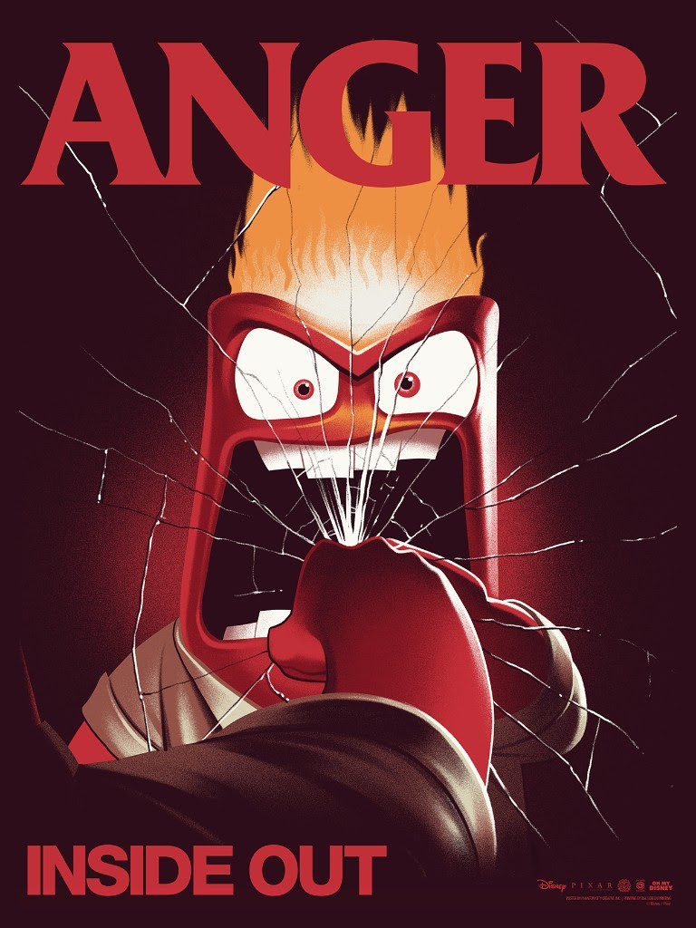 "Anger by Phantom City Creative. 18""x24"" screen print. Hand numbered. Edition of 420. Printed by D&L Screenprinting. $45"