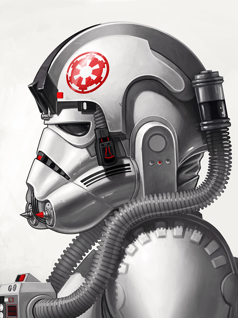 "AT-AT Driver by Mike Mitchell. 12""x16"" giclee. Signed & Hand numbered. Timed-Edition.  $55"