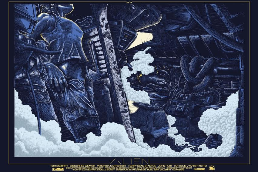 "Alien ""Structural Perfection"" by Ammo.  24"" x 36"" 7-color Screenprint.  Ed of 100 S/N.  £45 ($60)"