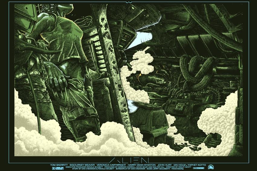 "Alien ""Structural Perfection"" by Ammo.  24"" x 36"" 8-color Screenprint.  Ed of 60 S/N.  £48 ($64) (variant)"
